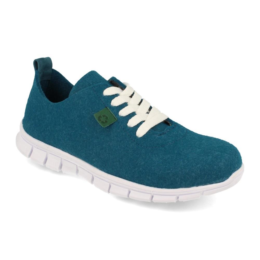 Sneaker Palomitas Azul Agua Marino